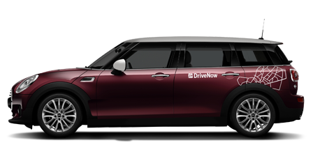 MINI Clubman in Pure Burgundy metallic